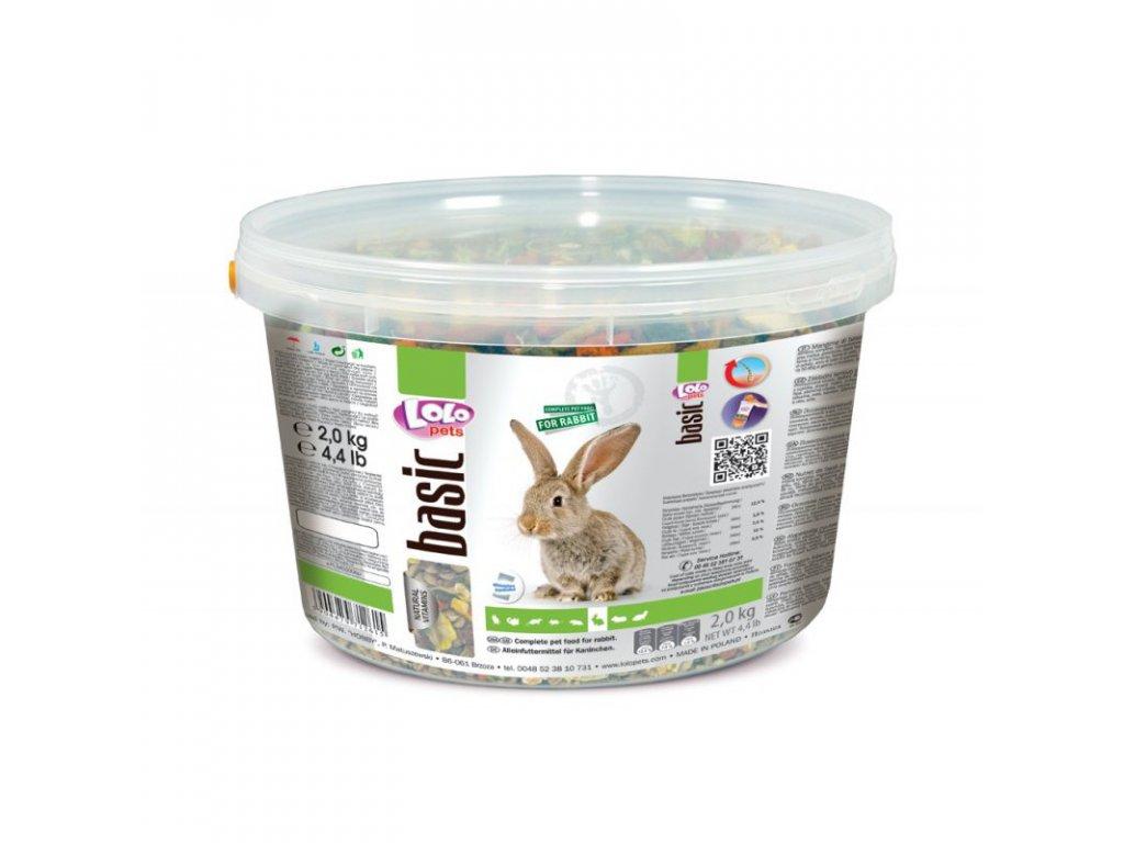 LOLO BASIC kompletní krmivo pro králíky 3 L/ 2kg kyblík