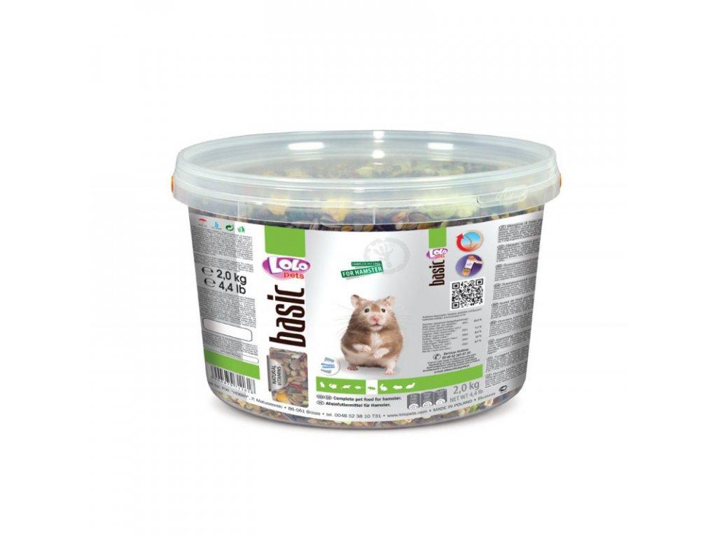 LOLO BASIC kompletní krmivo pro křečky 3 L/2kg kyblík