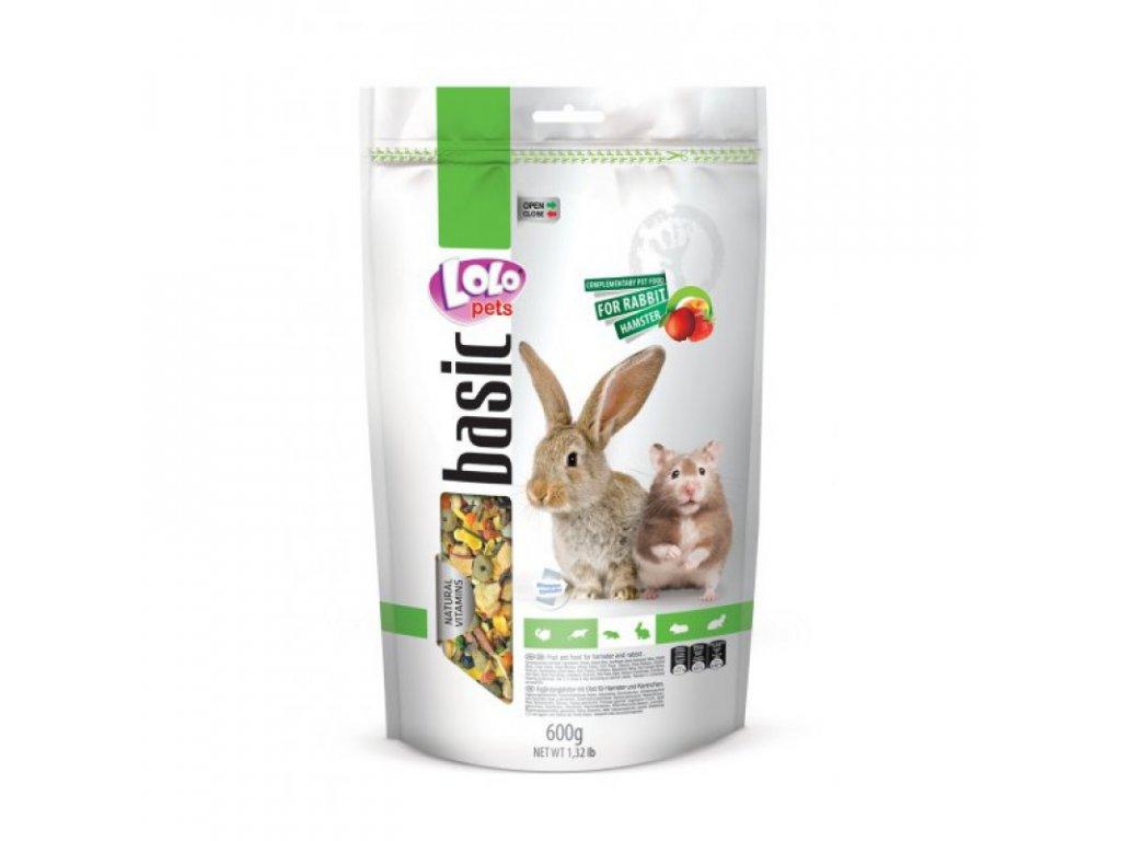LOLO BASIC Ovocné krmivo pro králíky a křečky 600g