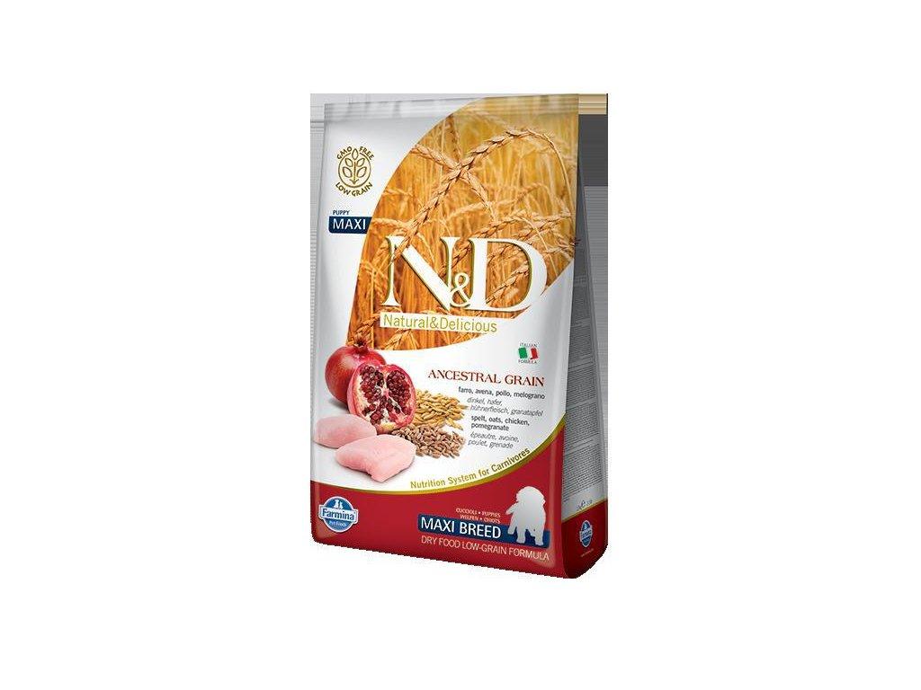 N&D LG DOG Puppy M/L Chicken & Pomegranate  sleva 2% při registraci