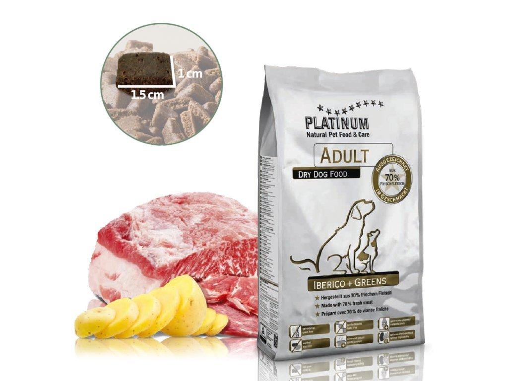 Platinum Adult Iberico+Greens 1,5kg - KANČÍ se zeleninou
