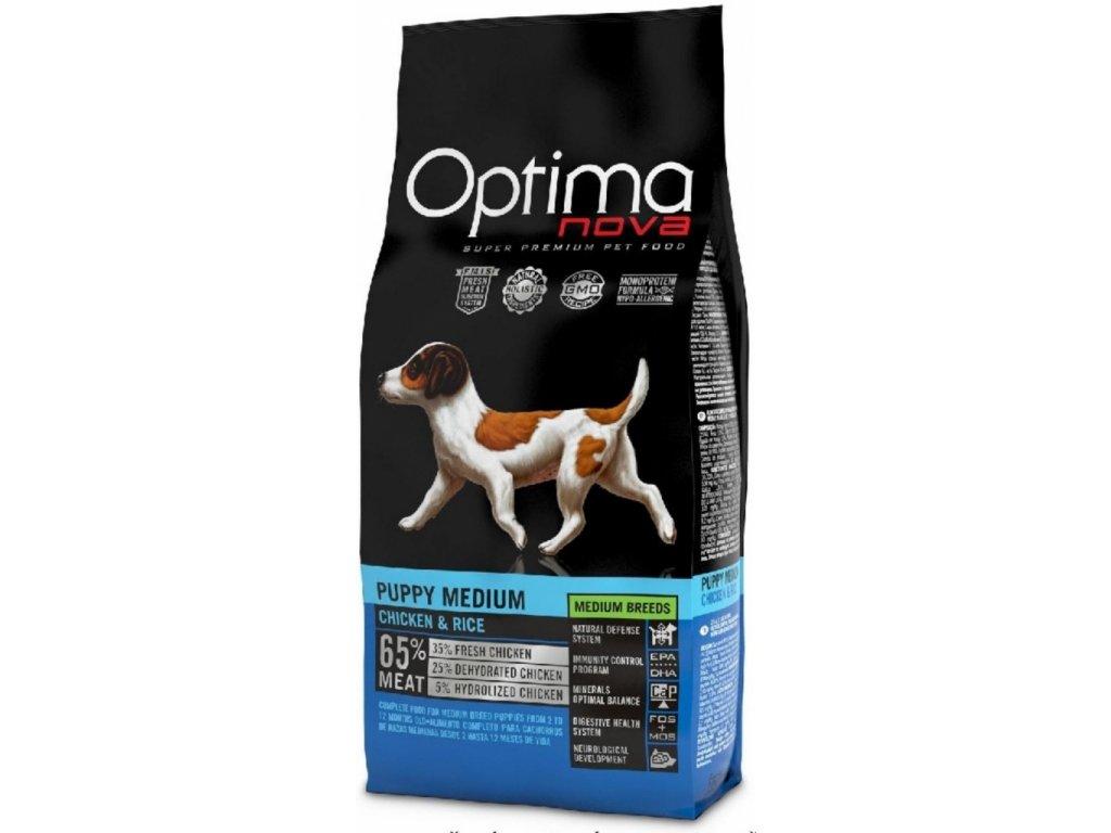 OPTIMAnova dog PUPPY MEDIUM 12kg  + Dárek křupavé sušenky ZDARMA