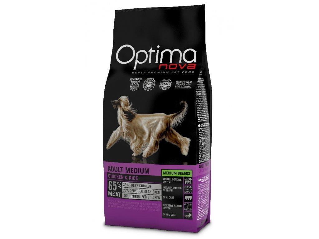 OPTIMAnova dog ADULT MEDIUM 12kg  + Dárek křupavé sušenky ZDARMA
