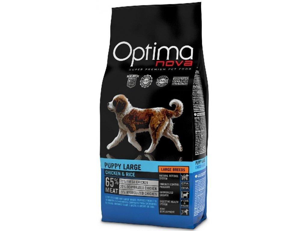 OPTIMAnova dog PUPPY LARGE 12kg  + Dárek křupavé sušenky ZDARMA