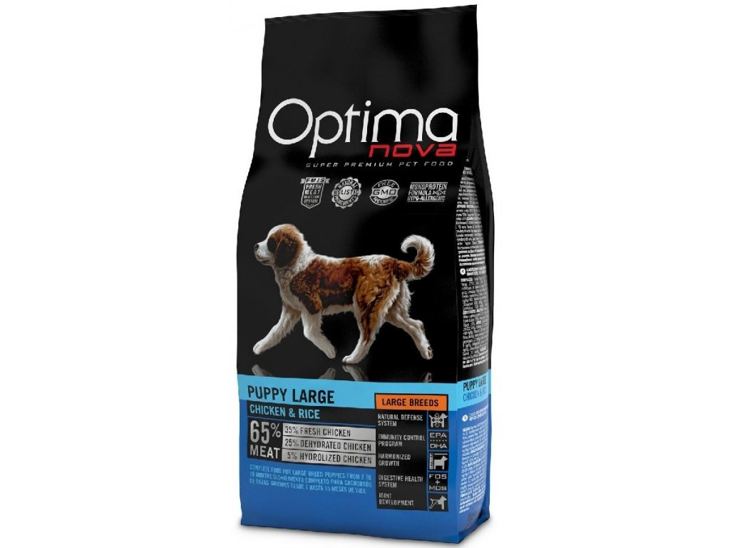OPTIMAnova dog PUPPY LARGE 2kg  sleva 2% při registraci