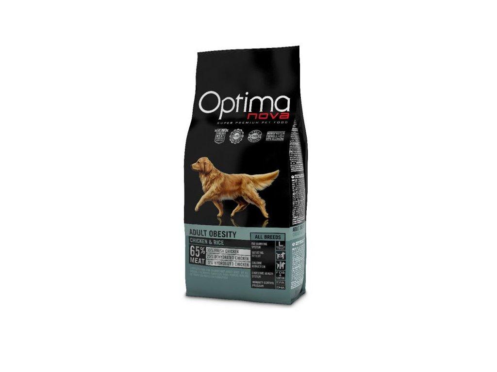 OPTIMAnova dog OBESITY 12kg  + Dárek křupavé sušenky ZDARMA