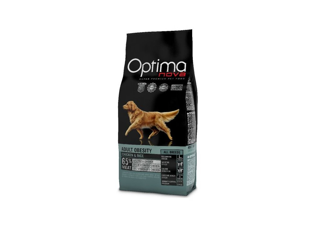OPTIMAnova dog OBESITY 2kg  sleva 2% při registraci