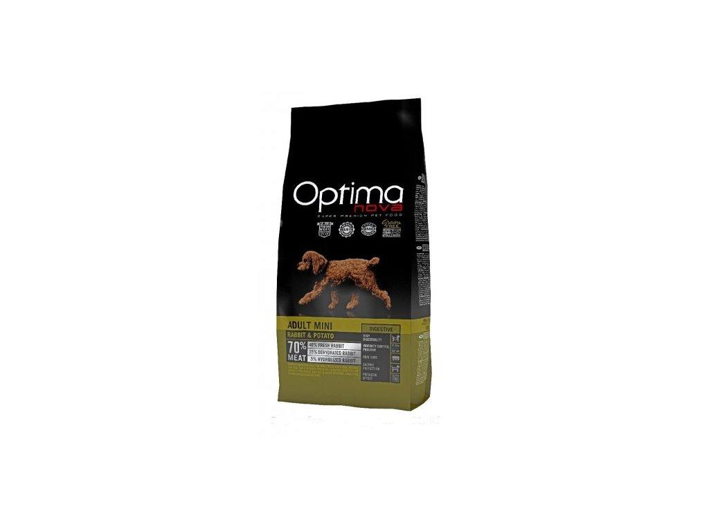 OPTIMAnova dog ADULT MINI DIGESTIVE GF Rabbit 8kg  + Dárek křupavé sušenky ZDARMA