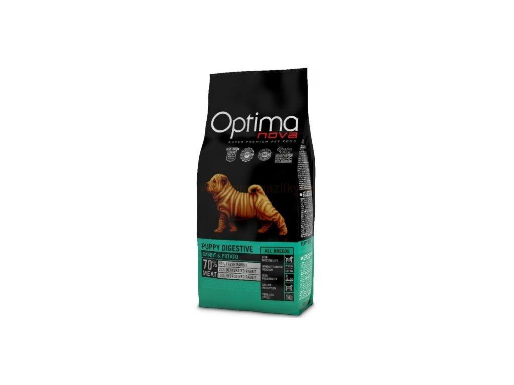 OPTIMAnova dog PUPPY DIGESTIVE GF Rabbit 12kg  + Dárek křupavé sušenky ZDARMA
