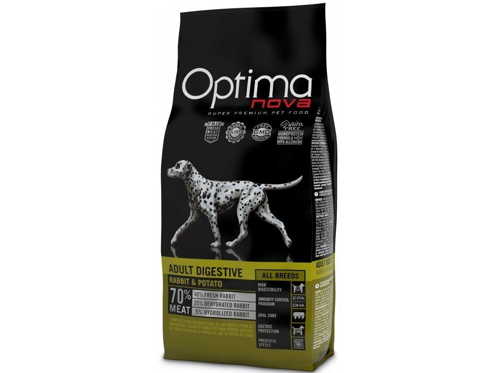 OPTIMAnova dog ADULT DIGESTIVE GF Rabbit 800g  výprodej - expirace 09/2020