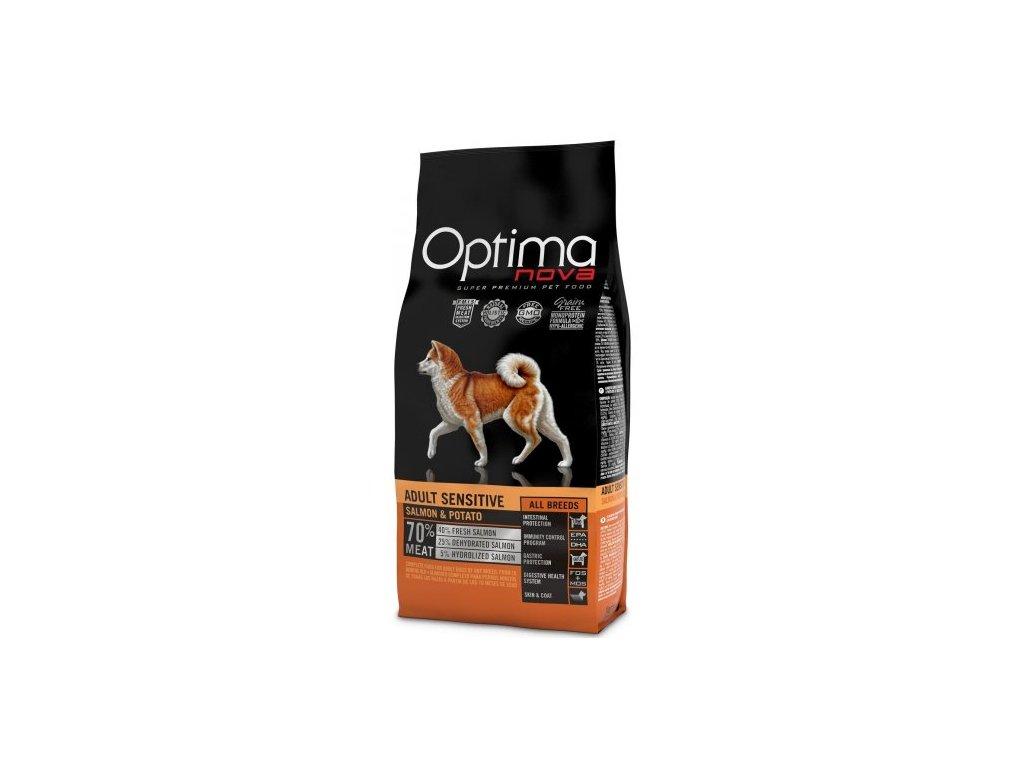 OPTIMAnova dog ADULT SENSITIVE GF Salmon 2kg  sleva 2% při registraci