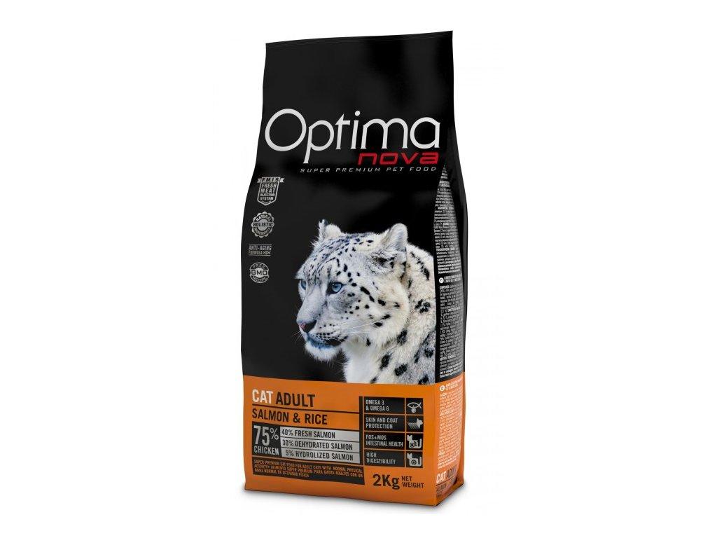 OPTIMAnova CAT ADULT SALMON 8kg  + Dárek 2x masová kapsička ZDARMA
