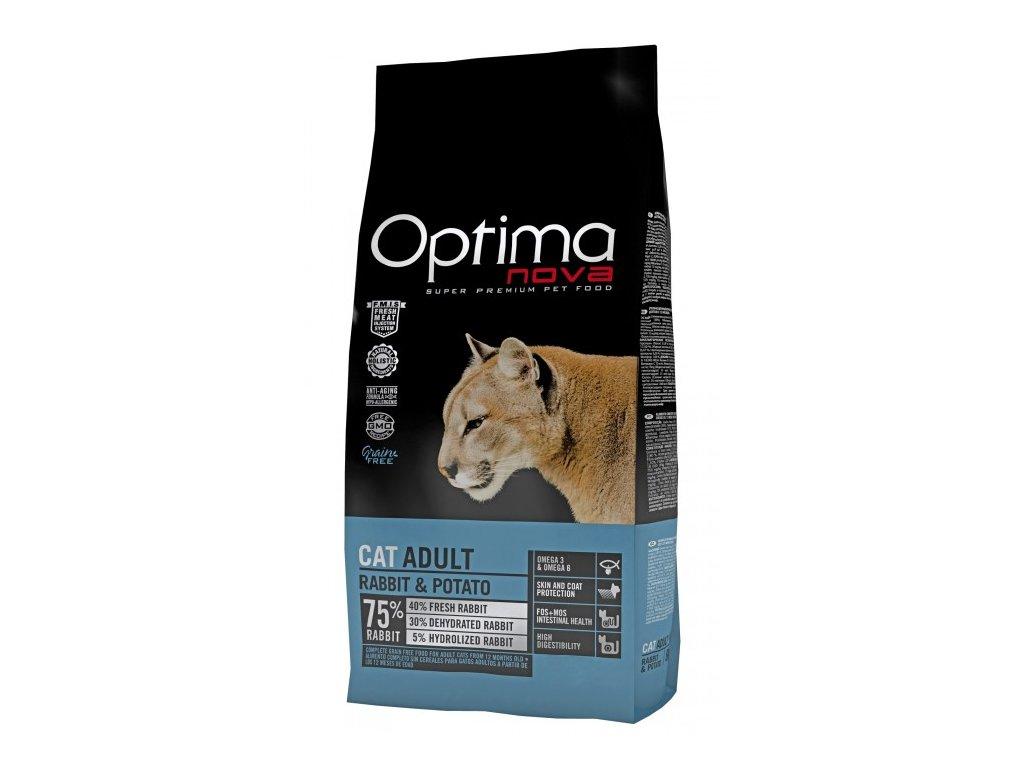 OPTIMAnova CAT RABBIT GRAIN FREE 8kg  + Dárek 2x masová kapsička ZDARMA