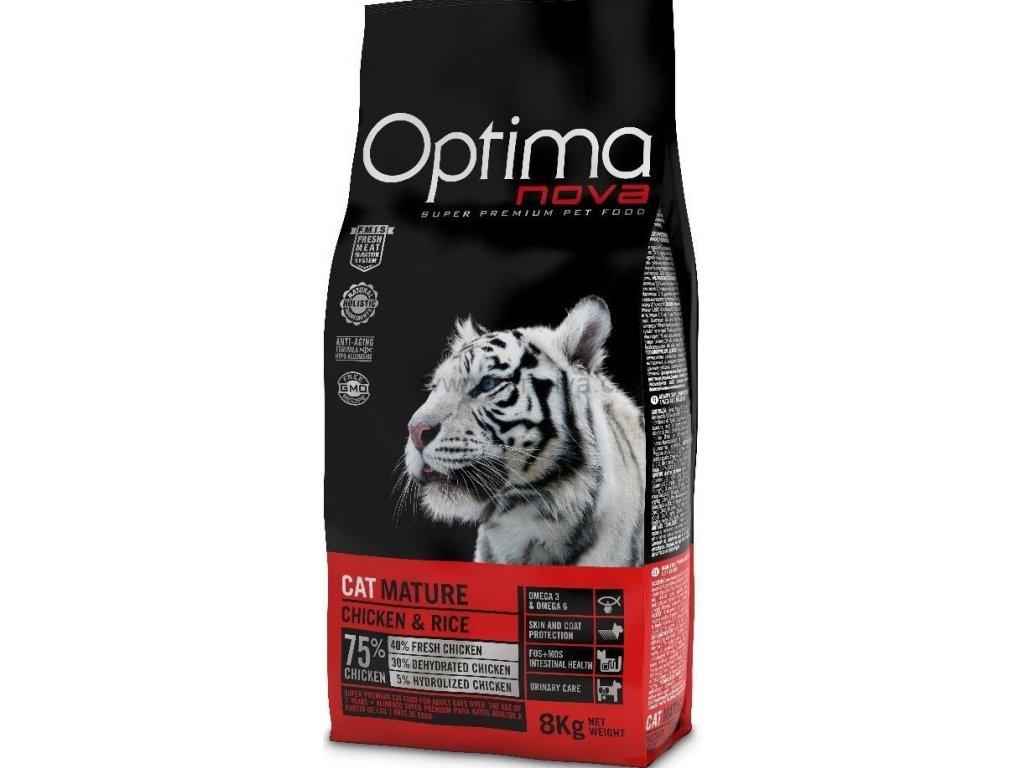 OPTIMAnova CAT MATURE urinary 8kg  + Dárek 2x masová kapsička ZDARMA