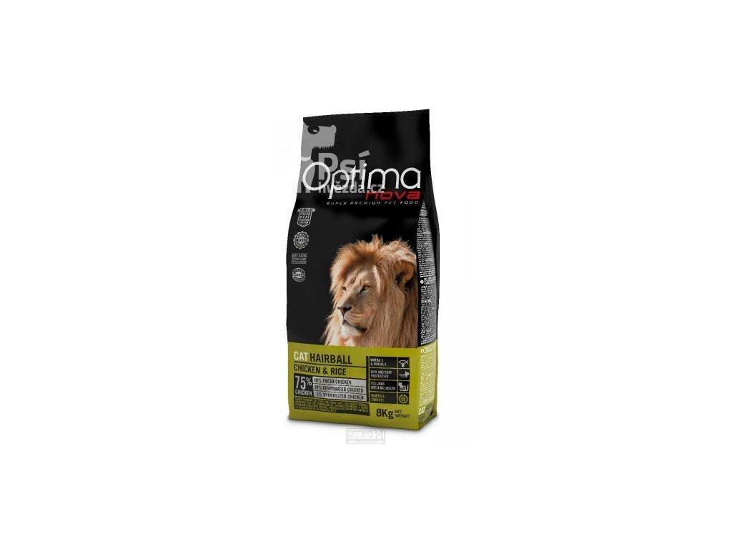 OPTIMAnova CAT HAIRBALL 2kg  sleva 2% při registraci