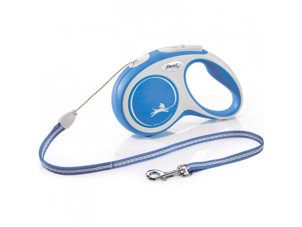 Vodítko FLEXI Comfort M lanko 5m/20kg modrá NEW