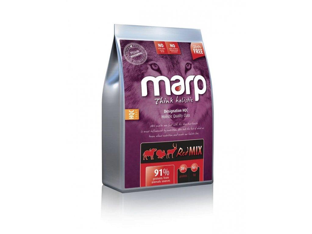 Marp Holistic Red Mix - hovězí,krůtí,zvěřina bez obilovin 12kg  + Dárek 300g hovězí masové paté ZDARMA