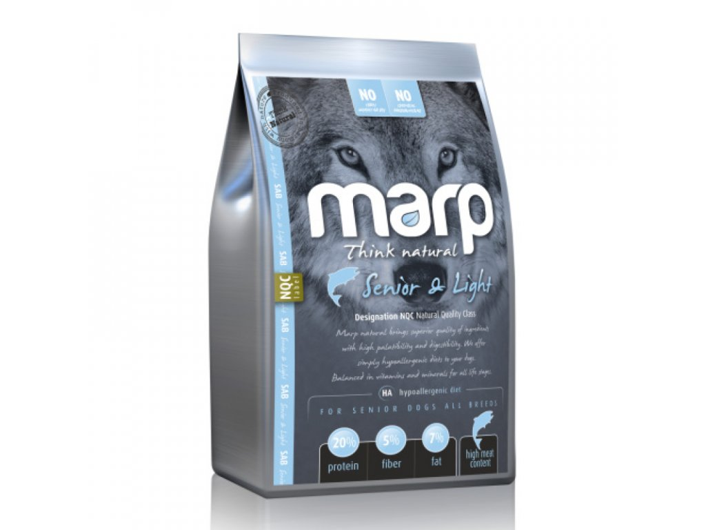 MARP NATURAL - SENIOR AND LIGHT s bílou rybou 2kg  kvalitní holistické krmivo pro psy