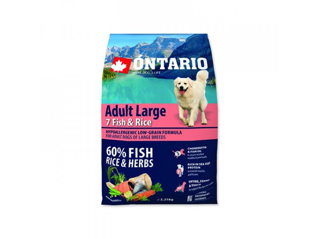 ONTARIO ADULT LARGE FISH & RICE 2,25kg  Pro registrované věrnostní slevy