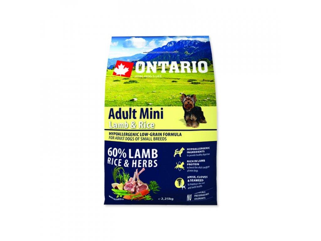 ONTARIO ADULT MINI LAMB & RICE 6,5kg  Pro registrované věrnostní slevy