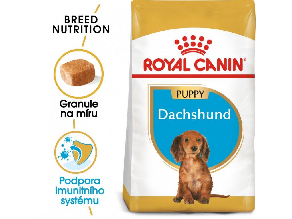 ROYAL CANIN Dachshund Puppy granule pro štěně jezevčíka 1,5kg  Dachshund Puppy granule pro štěně jezevčíka