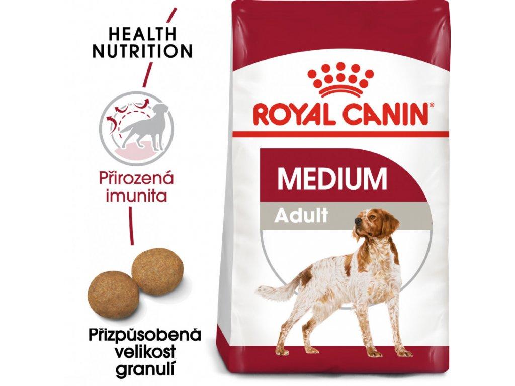 ROYAL CANIN Medium Adult granule pro dospělé střední psy  granule pro dospělé střední psy