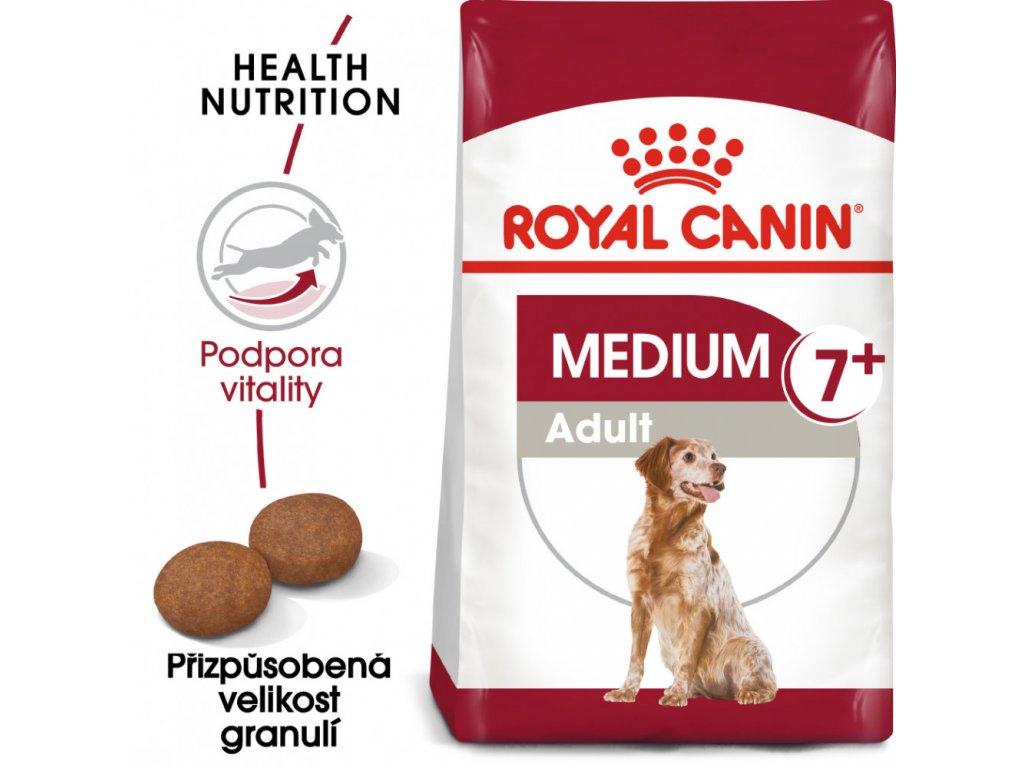 ROYAL CANIN Medium Adult 7+ granule pro dospělé stárnoucí střední psy  granule pro dospělé stárnoucí střední psy