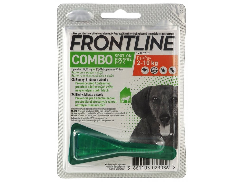 FRONTLINE Combo Spot On Dog S (2-10kg) 1x0,67ml