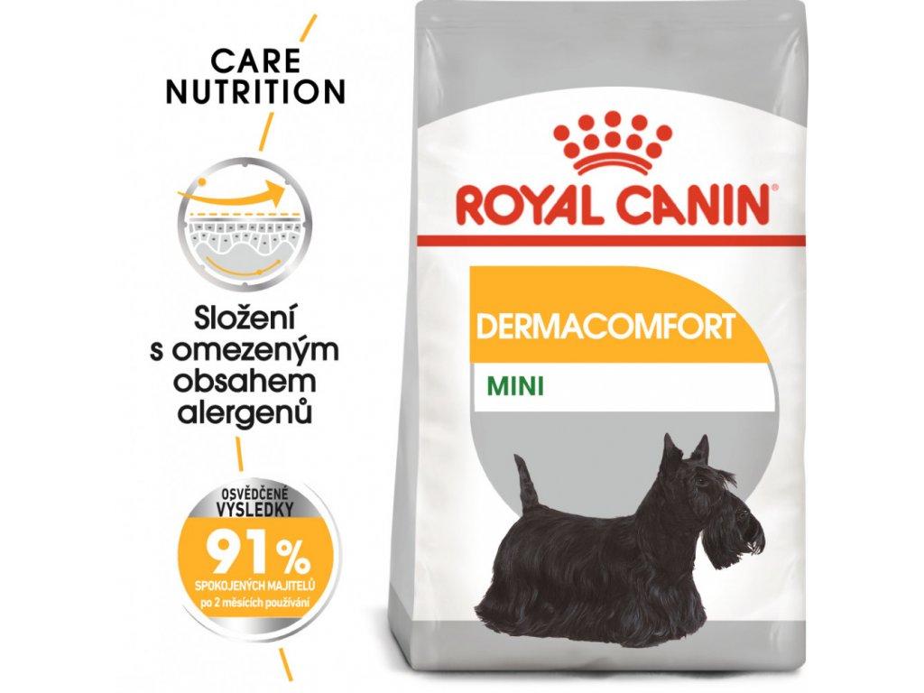 ROYAL CANIN Mini Dermacomfort - granule pro malé psy s problémy s kůží