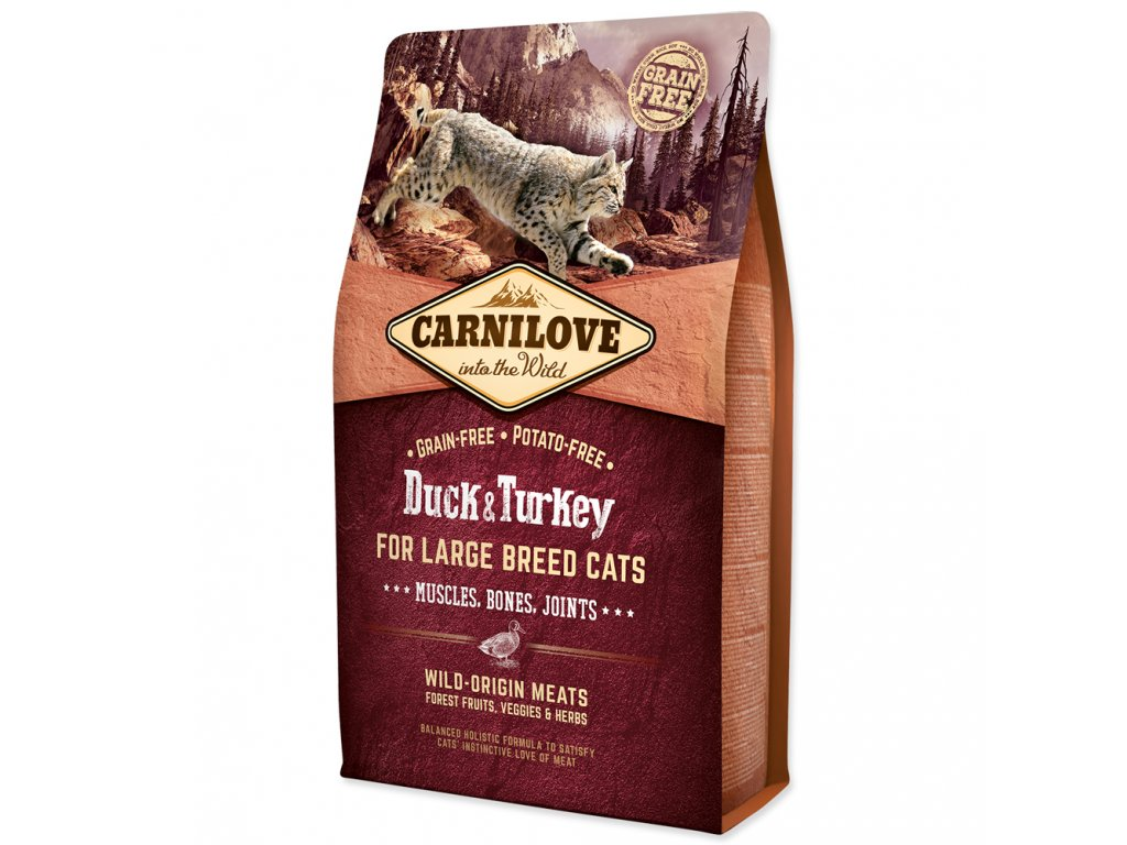 CARNILOVE CAT Adult Duck & Turkey Large Breed GF  2 KG