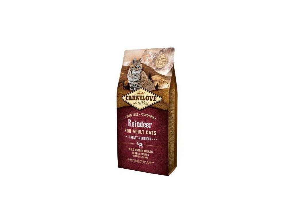 CARNILOVE Cat Reindeer for Adult Energy & Outdoor 2kg