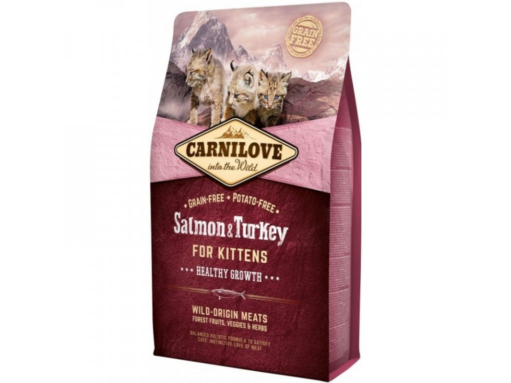 CARNILOVE Salmon & Turkey Kittens 2kg