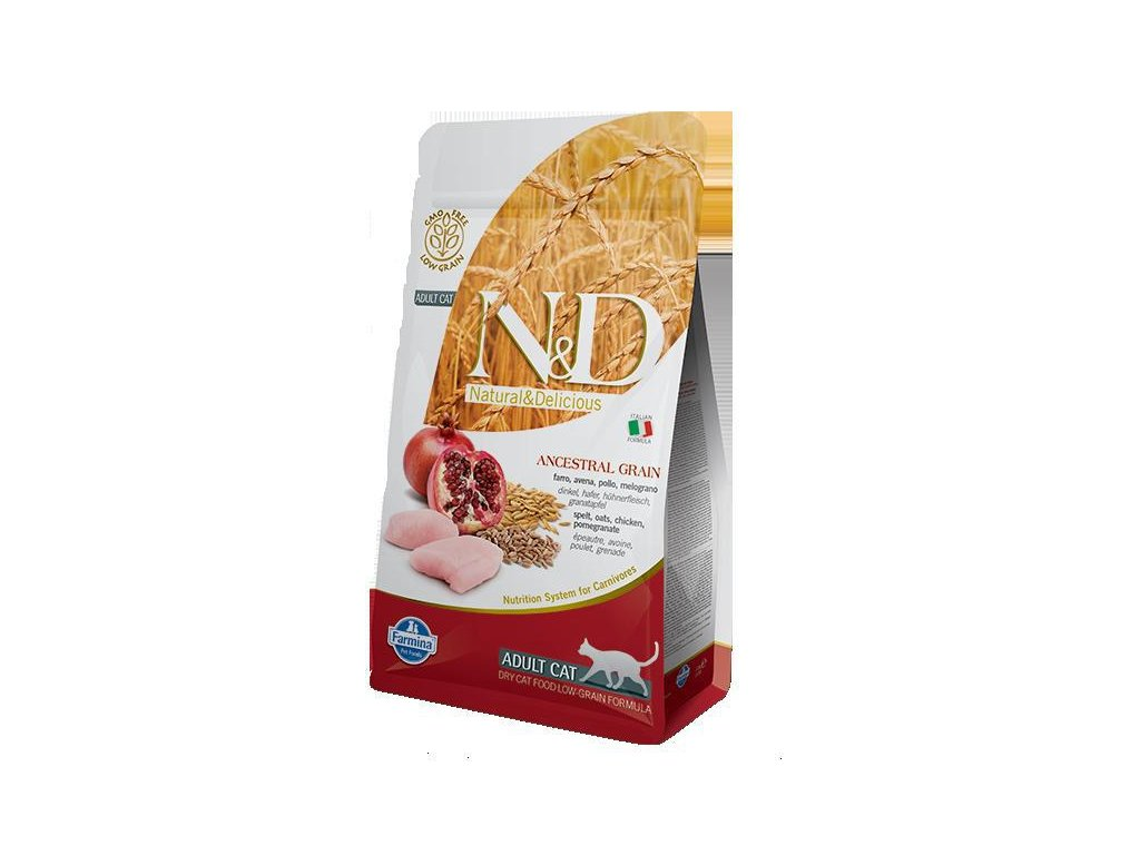 N&D LG CAT Adult Chicken & Pomegranate  sleva 2% při registraci