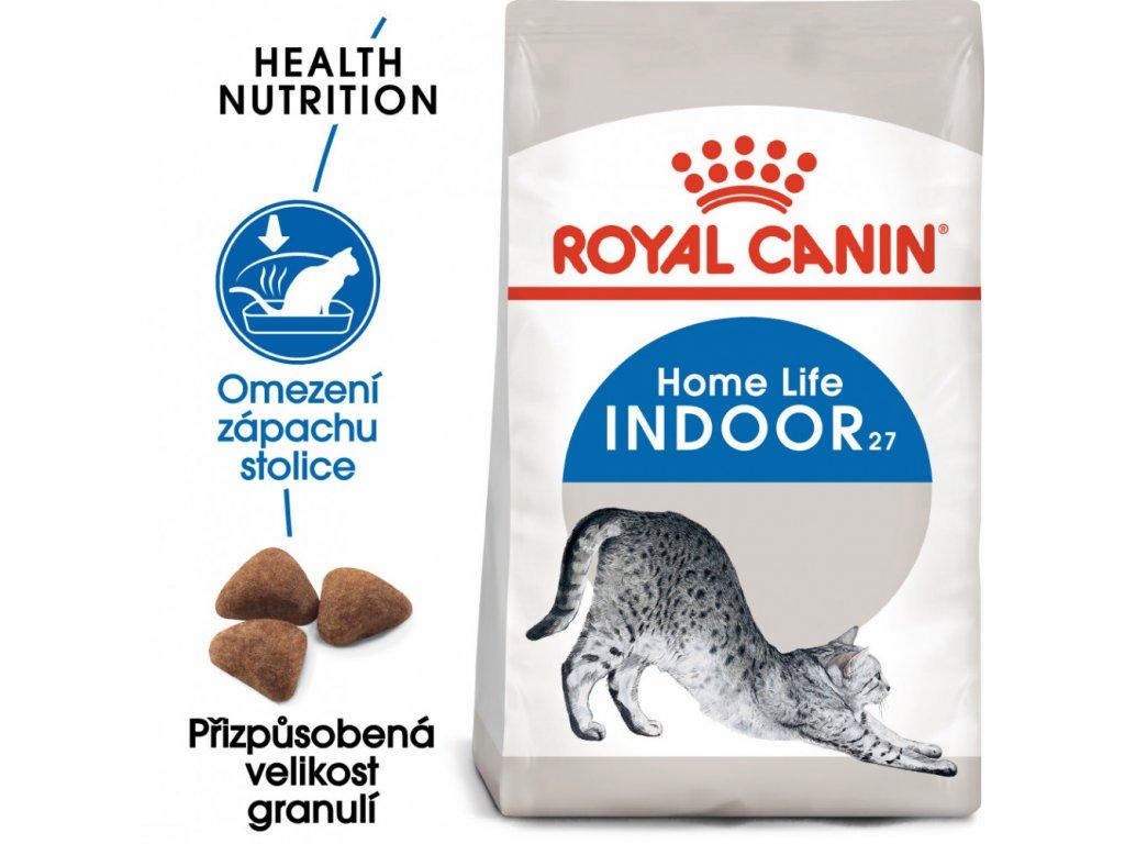 Royal canin Indoor  granule pro kočky žijící uvnitř