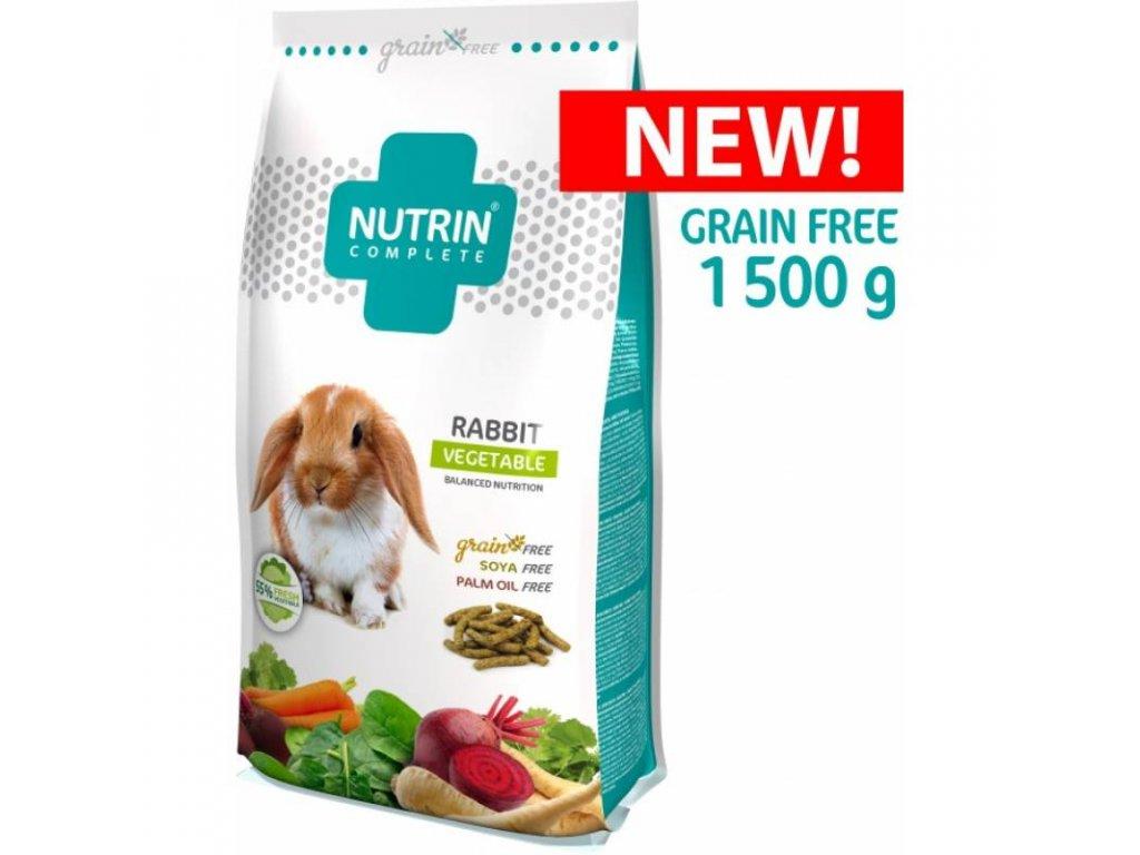 NUTRIN COMPLETE KRÁLÍK - GRAIN FREE - VEGETABLE 1 500G