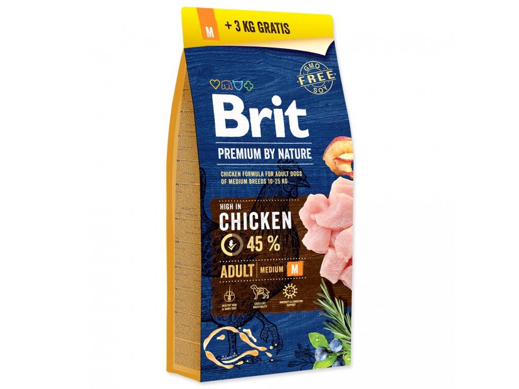 AKCE - BRIT Premium by Nature Adult M 15+3kg ZDARMA