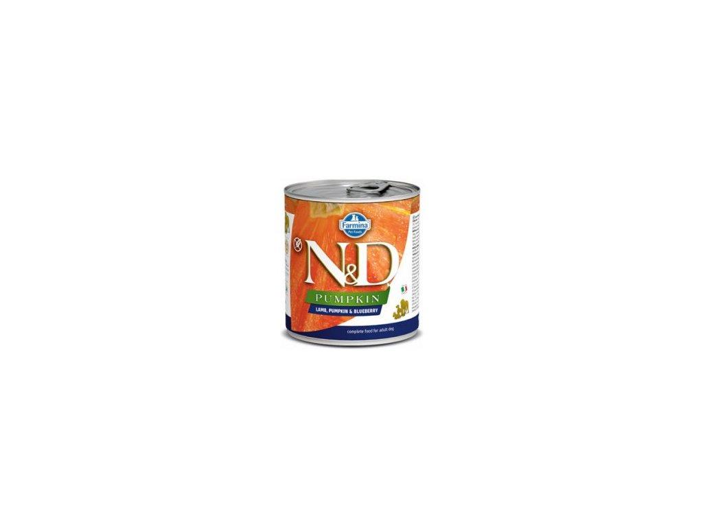 N&D DOG PUMPKIN Adult Lamb & Blueberry 285g  Kvalitní přírodní chutné konzervy