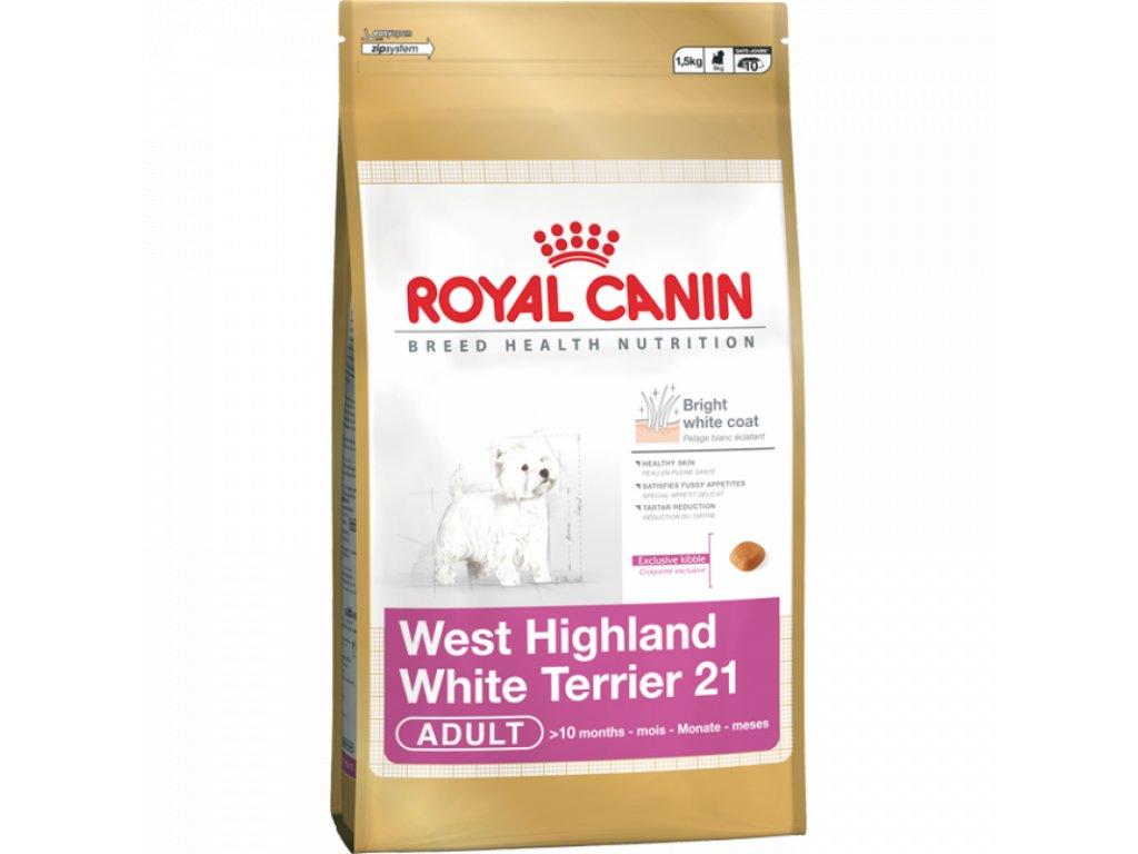 ROYAL CANIN WESTIE 1,5kg - AKCE Exp. 11/19 poslední ks skladem