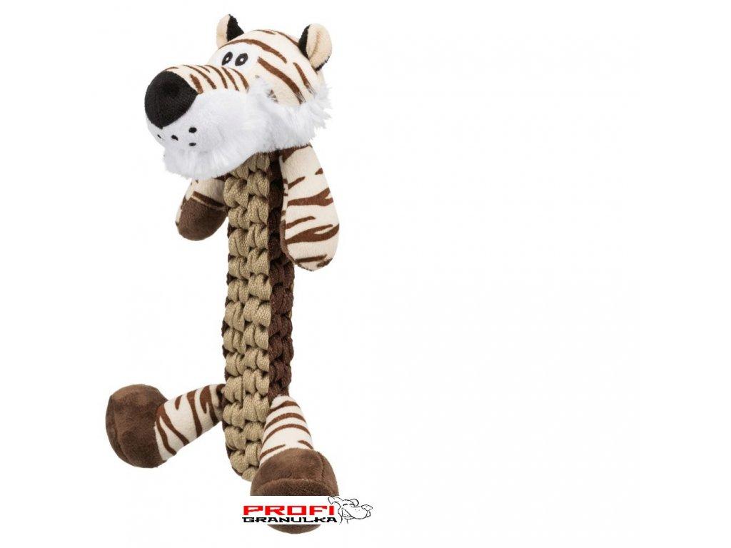 Tiger, plyšový tygr, 32cm  kvalitní pevná hračka pro psy