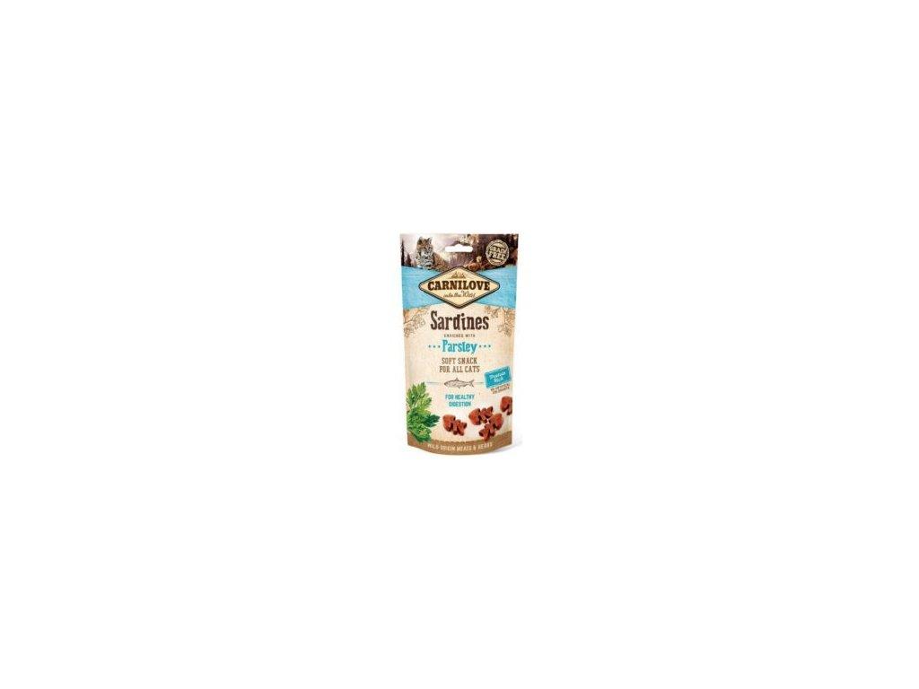 Carnilove Cat Semi Moist Snack Sardine&Parsley 50g  sleva při registraci pro zákazníky