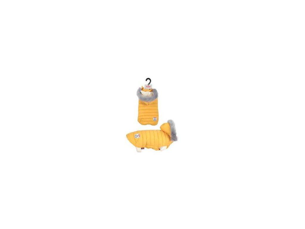 Obleček prošívaná bunda pro psy URBAN žlutá Zolux - různé velikosti