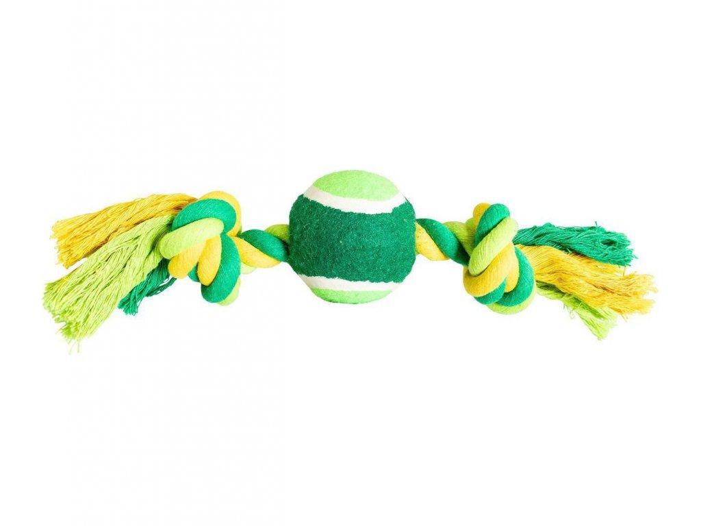 Uzel s tenisákem HIP HOP bavlněný 2 knoty 30 cm / 150 g limetková, zelená  sleva 2% při registraci