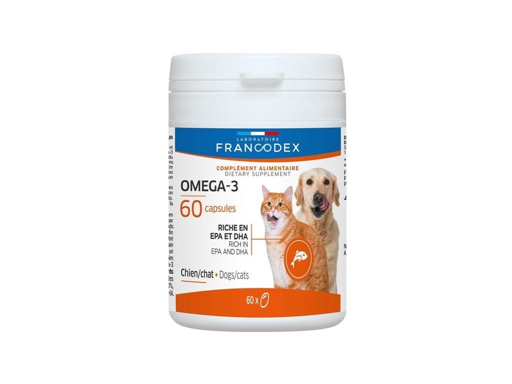 Francodex Omega 3 Capsules pes, kočka 60tab  sleva 2% při registraci