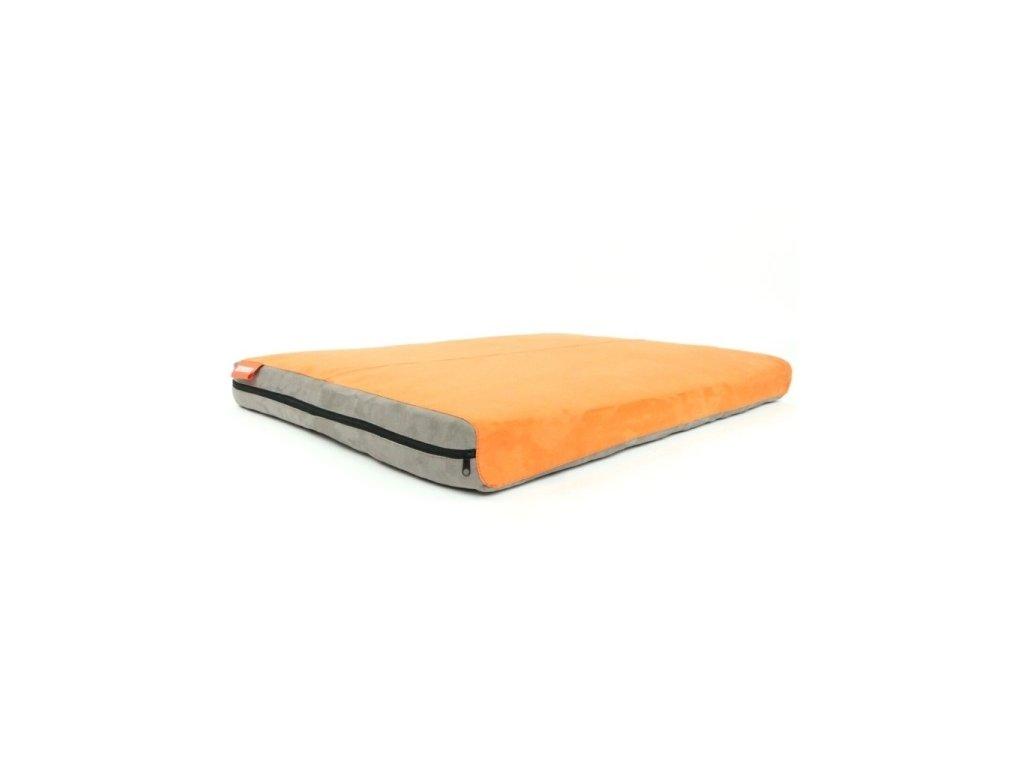 Matrace Aminela - 120x80x10cm Half and Half šedá/oranžová  + Dárek pamlsky Kachní masový závitek 100g