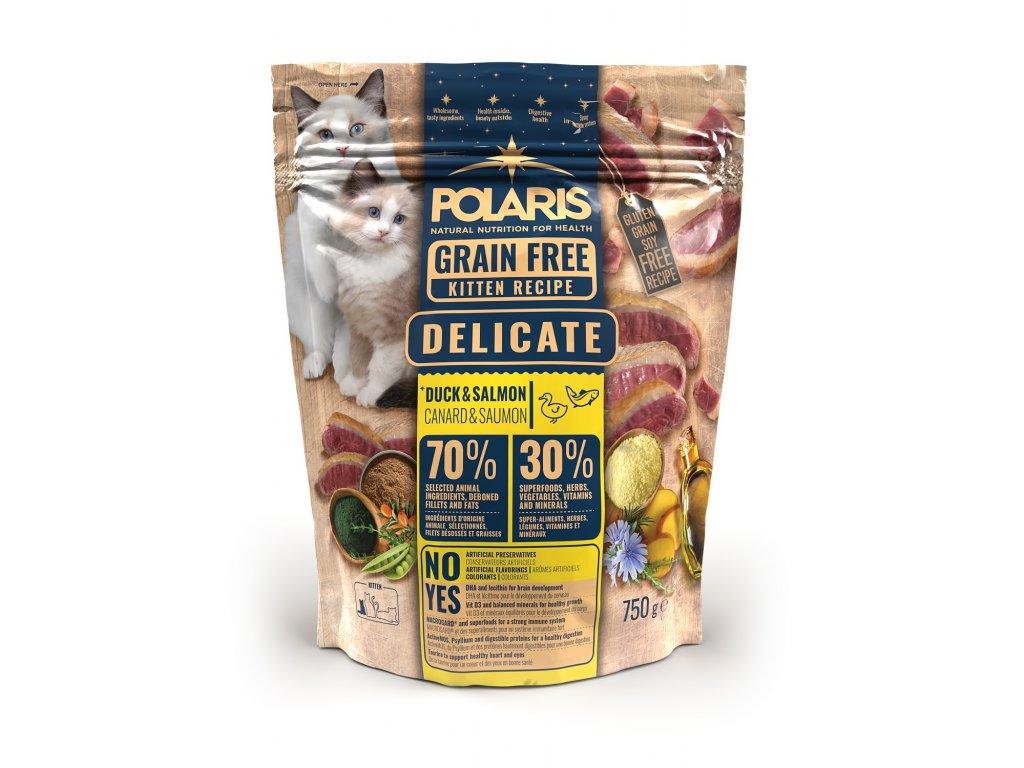 Polaris Cat Kitten kachna & losos 750 g