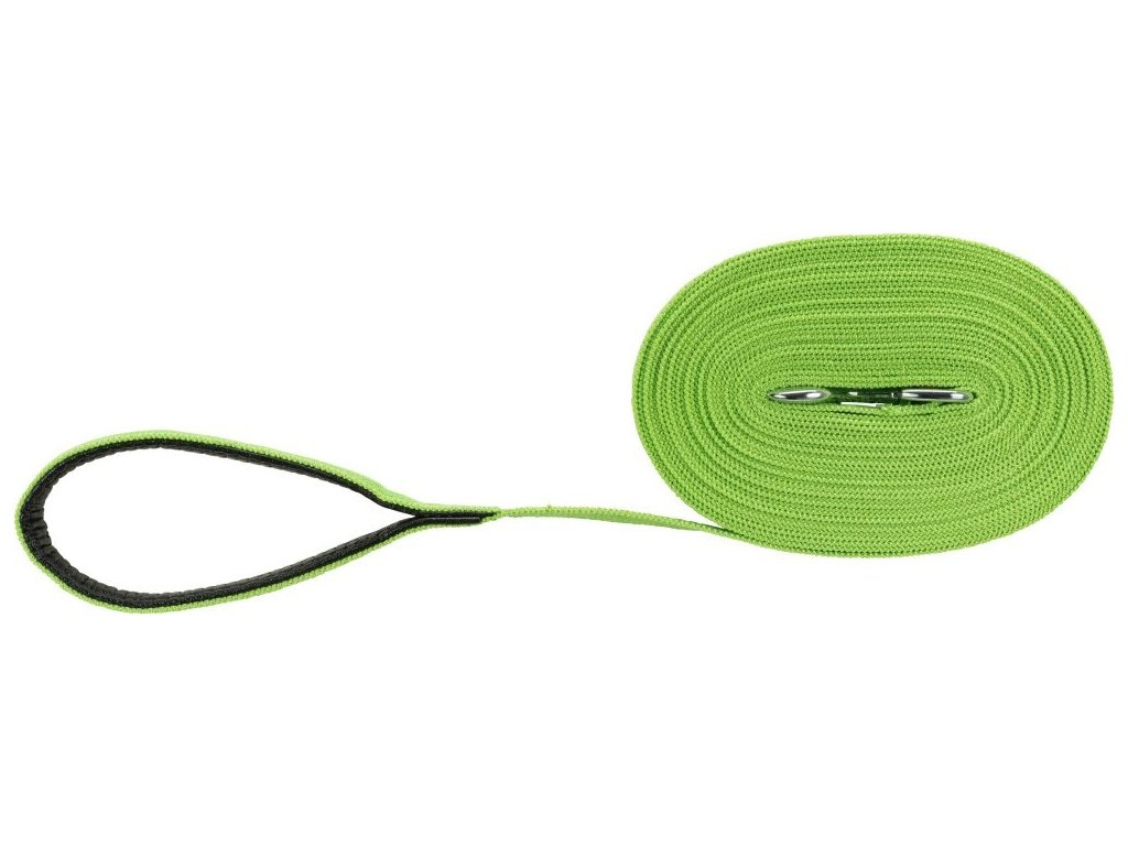 Stopovací vodítko bavlněné, M-L: 15m/20mm, jablkově zelená