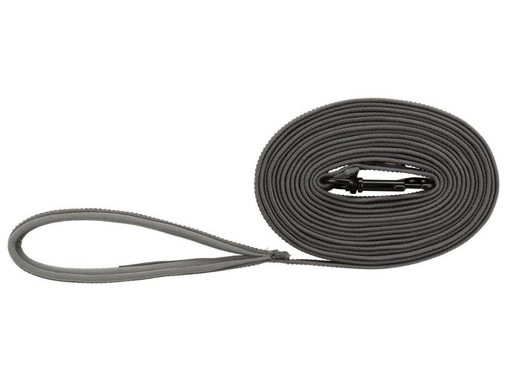 Stopovací vodítko FUSION, pogumované, M-XL: 5 m/ 17 mm, grafit/papája
