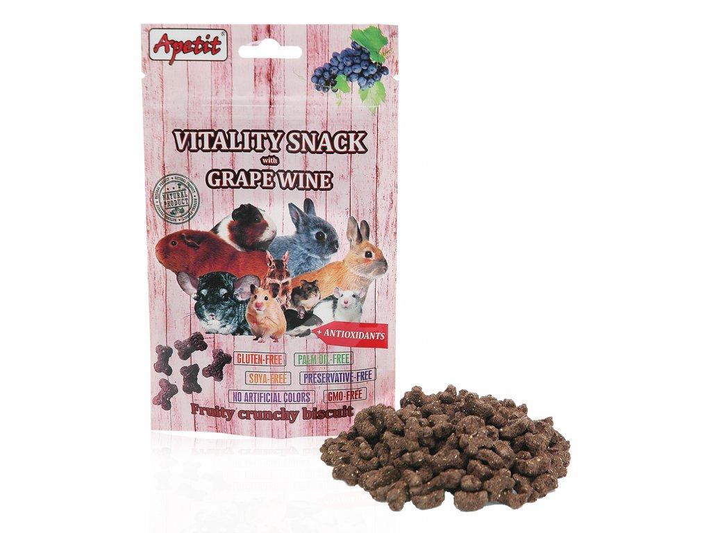 Apetit Vitality snack s hroznovým vínem 80g