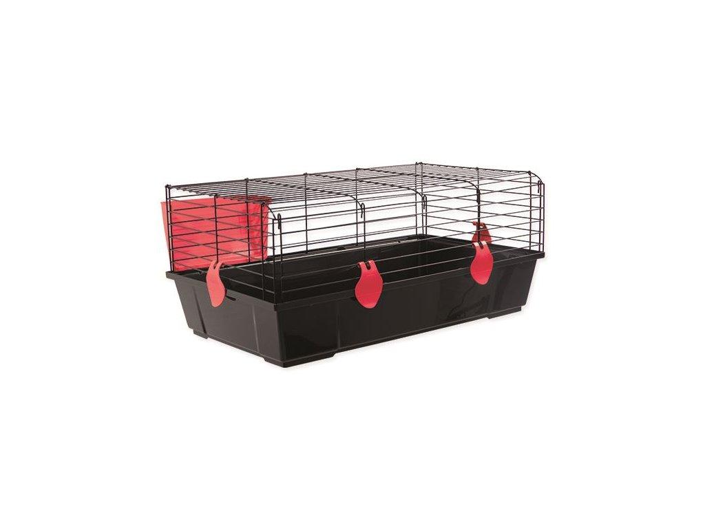 Klec SMALL ANIMALS Matěj černá s červenou výbavou 80 x 46 x 35 cm (1ks)  Klec SMALL ANIMALS Matěj černá s červenou výbavou 80 x 46 x 35 cm (1ks)