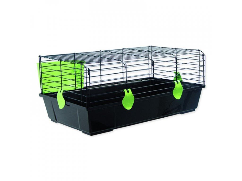Klec SMALL ANIMALS Michal černá se zelenou výbavou 100 x 55 x 39 cm (1ks)  Klec SMALL ANIMALS Michal černá se zelenou výbavou 100 x 55 x 39 cm (1ks)